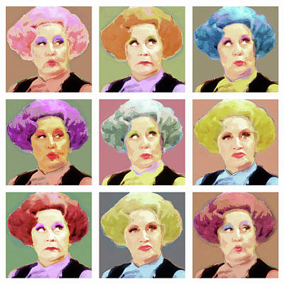 Pussy Galore - Nine Lives - Mollie Sugden Portrait, Are You Being Served? Art Print