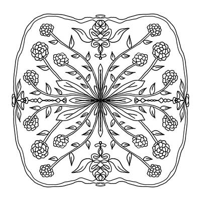 Digital Art - Pussy Paws Mandala by Tanya Provines