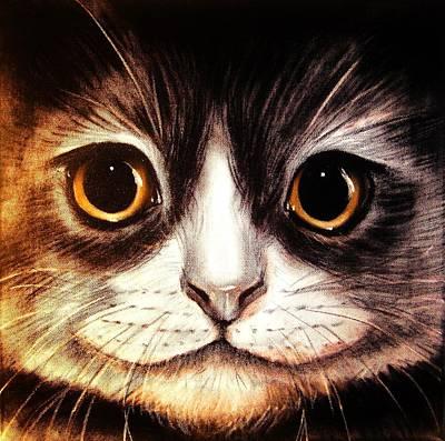 Pussycat Art Print by Anastasis  Anastasi