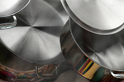 It Polish Photograph - Put A Lid On It - A Still Life Of Shiny Cooking Pots by Mitch Spence