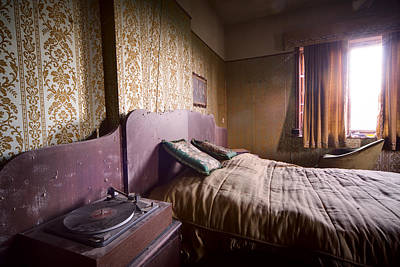 Put On A Record Nighttime Music - Urban Exploration Art Print by Dirk Ercken