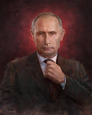 Putin Painting - Putin Time Man Of The Year Cover by Pavel Sokov