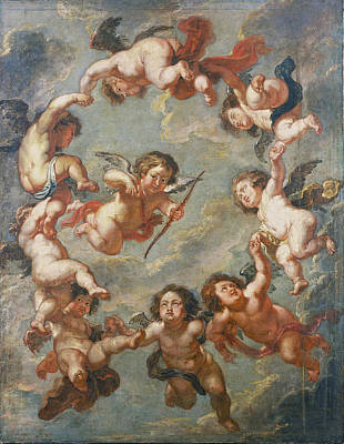 Painting - Putti. A Ceiling Decoration by Peter Paul Rubens