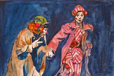 Art Print featuring the painting Puttin On The Nose by P Maure Bausch