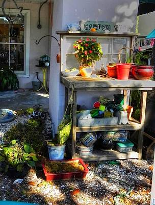 Photograph - Potting Bench  by Patricia Greer