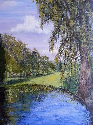 Painting - Putting Green Pond by Mishel Vanderten