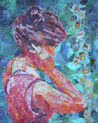 Updo Painting - Putting Her Hair Up by Jenny Armitage