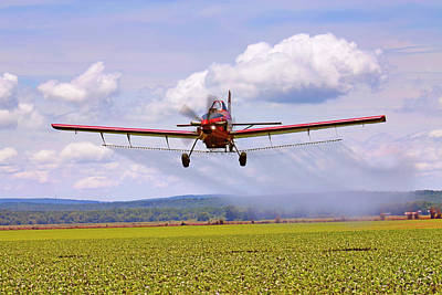 Photograph - Putting It Down - Ag Pilot - Crop Duster by Jason Politte