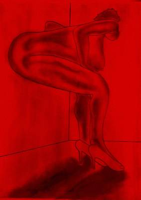Rubenesque Painting - Putting On The Red Light. by Lee Huntley
