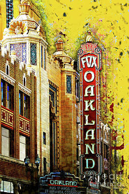 Photograph - Putting On The Ritz At The Oakland Fox Theatre 20161103amp by San Francisco