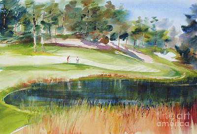 Sports Paintings - Putting Pine Hills by P Anthony Visco