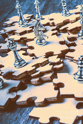 Playing Photograph - Puzzle Of Mysteries And Strategy by Jorgo Photography - Wall Art Gallery