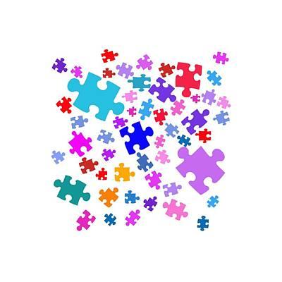 Puzzle Pieces Original by Bill Owen