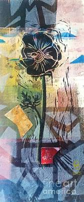 Mixed Media - Puzzled Floral by Cynthia Lagoudakis
