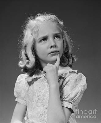 Puzzled Girl, C.1940s Art Print by H. Armstrong Roberts/ClassicStock