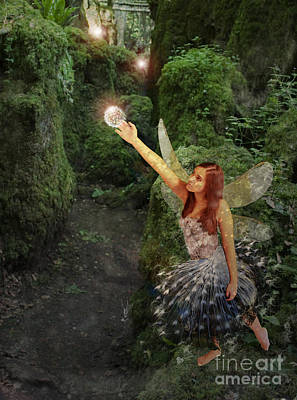 Mythical Creatures Digital Art - Puzzlewood Fairy by Patricia Ridlon