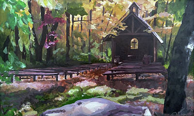 Painting - Pvm Outdoor Chapel by David Maynard
