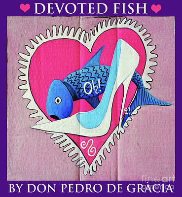 Devoted Fish Art Print by Don Pedro De Gracia