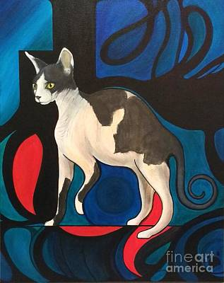 Painting - Pyewhacket Sphynx by John Lyes