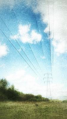 Photograph - Pylon In Blue by Isabella F Abbie Shores FRSA