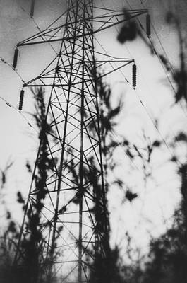 Photograph - Pylon In Bw by YoursByShores Isabella Shores