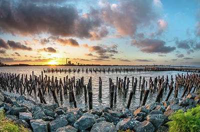 Photograph - Pylons Mill Sunset by Greg Nyquist