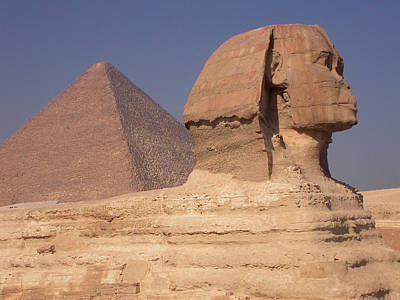 Pyramid And Sphinx Art Print by Mary Lane