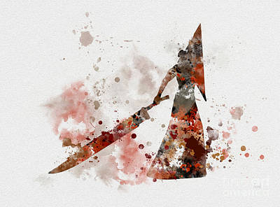 Horror Movies Mixed Media - Pyramid Head by Rebecca Jenkins