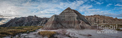 Surrealism Royalty Free Images - Pyramid in the Badlands Panorama Royalty-Free Image by Michael Ver Sprill
