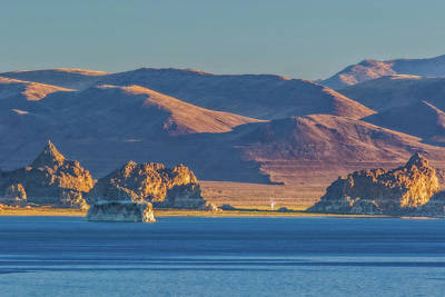 Photograph - Pyramid Lake And The Lake Range by Marc Crumpler