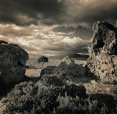 Pyramid Lake, Nevada, Usa Print by Mel Curtis