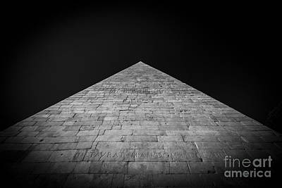 Photograph - Pyramid Of Cestius - Roma Vintage by Stefano Senise