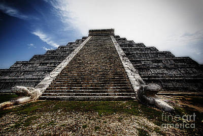 Human Sacrifice Photograph - Pyramid Of Kukulcan by George Oze