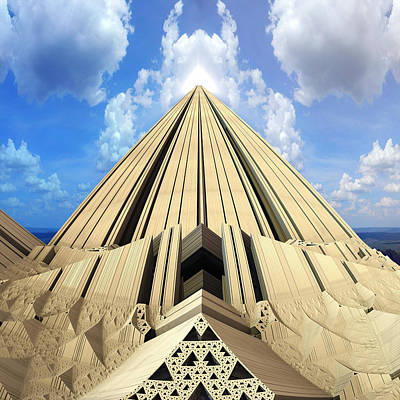 Abstract Digital Art - Pyramid Of The Daylight by Dr-Pen