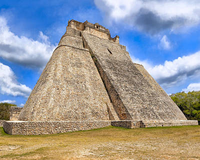 Photograph - Pyramid Of The Magician At Uxmal by Mark E Tisdale