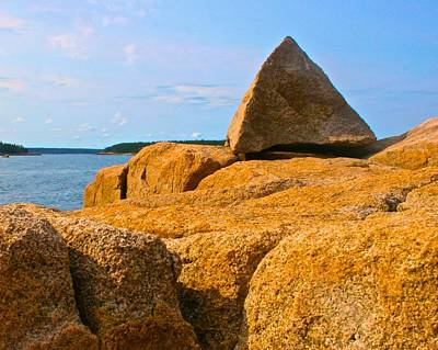 Photograph - Pyramid Rock On Schoodic Penninsula by Polly Castor