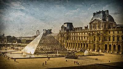 Photograph - Paris, France - Pyramide by Mark Forte