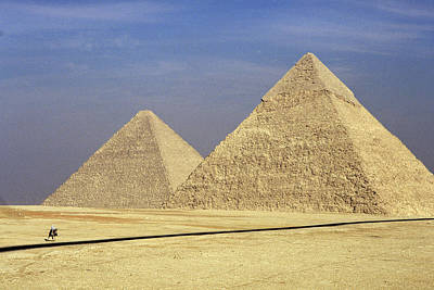 Photograph - Pyramids At Giza by Mark Greenberg
