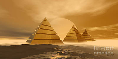 Egyptian Mummy Painting - Pyramids by Corey Ford