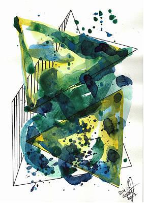 Drawing - Pyramids by Julia Zoellner