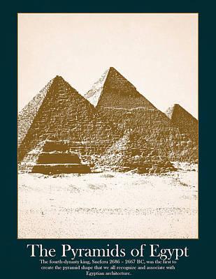 Pyramids Of Egypt Art Print by Stephanie Hamilton