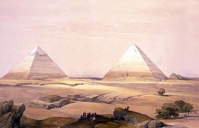 Digital Art - Pyramids Of Geezeh - Egypt by Munir Alawi