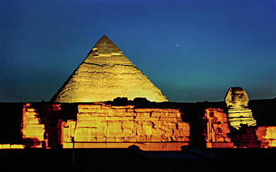 Pyramids Of Giza 2 Art Print by Steve Harrington
