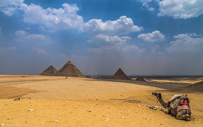 Photograph - Pyramids Of Giza  by Julis Simo