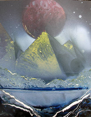 Pyramids Of The Red Moon Original by Arlene  Wright-Correll