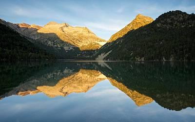 Digital Art - Pyranees Lake Reflections by Stephen Taylor