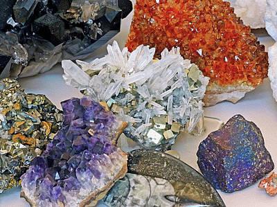 Mixed Media - Pyrite Amethyst And Citrine  by Lynda Lehmann