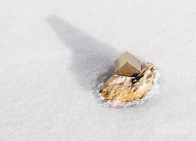 Photograph - Pyrite Crystal by Les Palenik