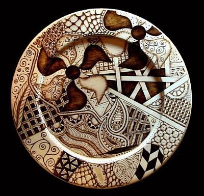 Pyro-tangle Plate Original by Jo Schwartz