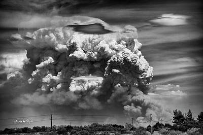 Photograph - Pyrocumulus by Karen Slagle